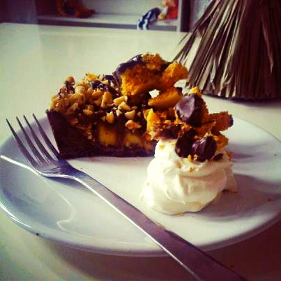 """... thank god it's friday"""" honeycomb, peanut butter and chocolate pie"""
