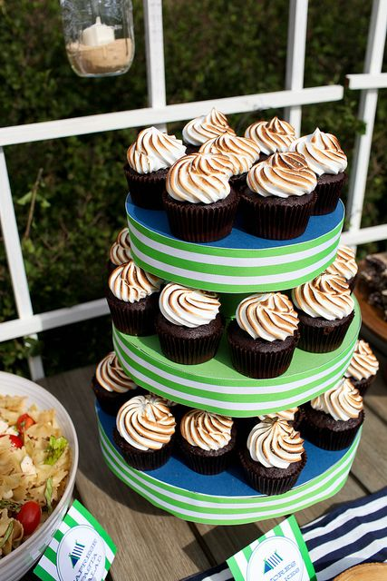 Camping Birthday Party Cupcakes