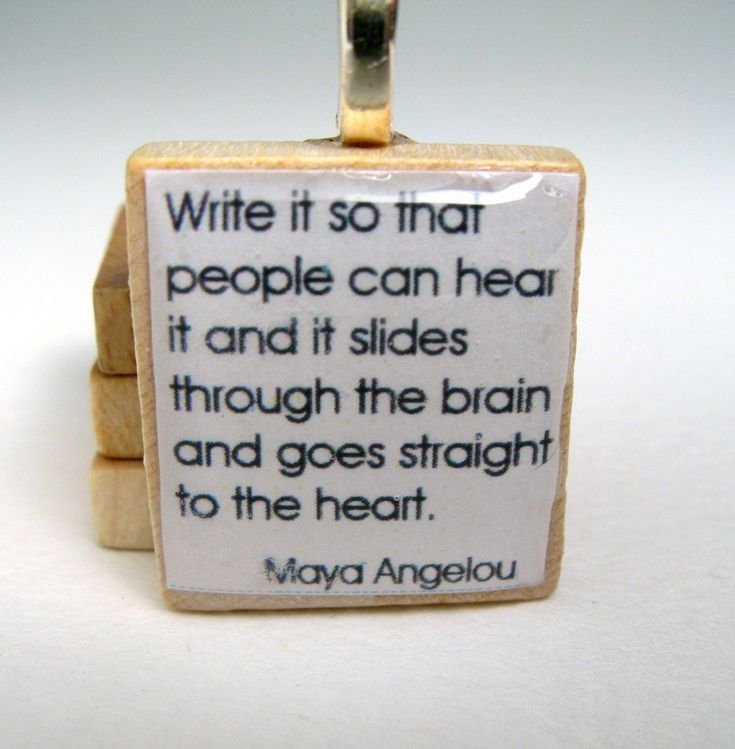 Maya Angelou Writing Quote