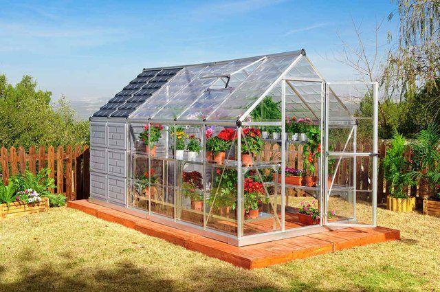 Fancy Backyard Sheds : Fancy  PolyTex Grow & Store Greenhouse & Storage Shed