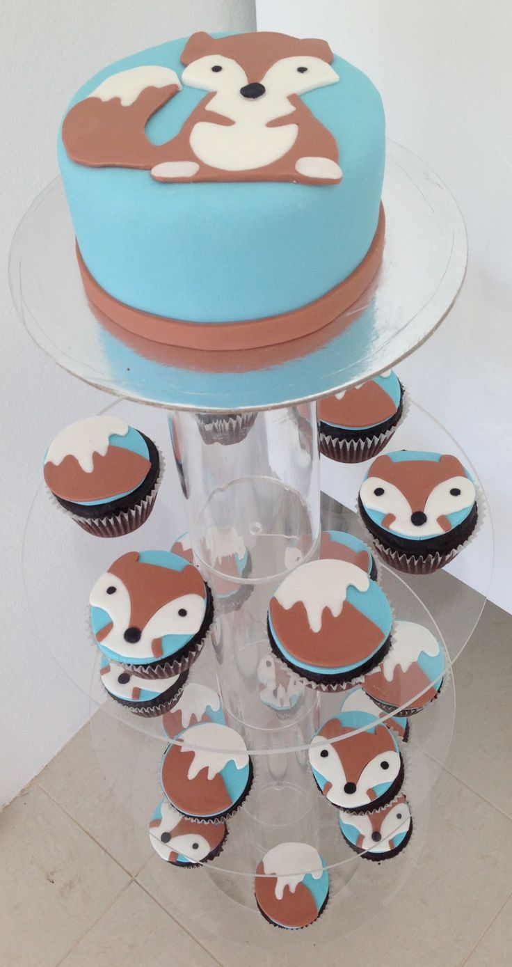 fox theme baby shower cake foxes for the future babe pinterest