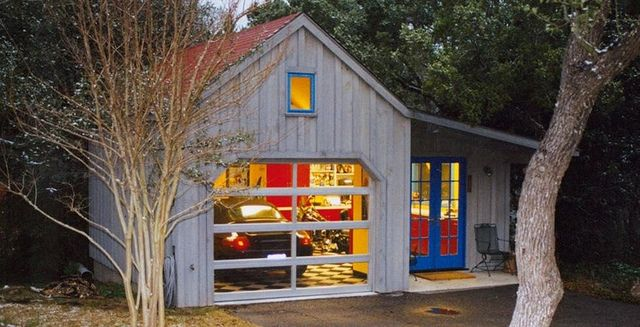 Garage Man Cave Get The Open Look And Lots Of Light With