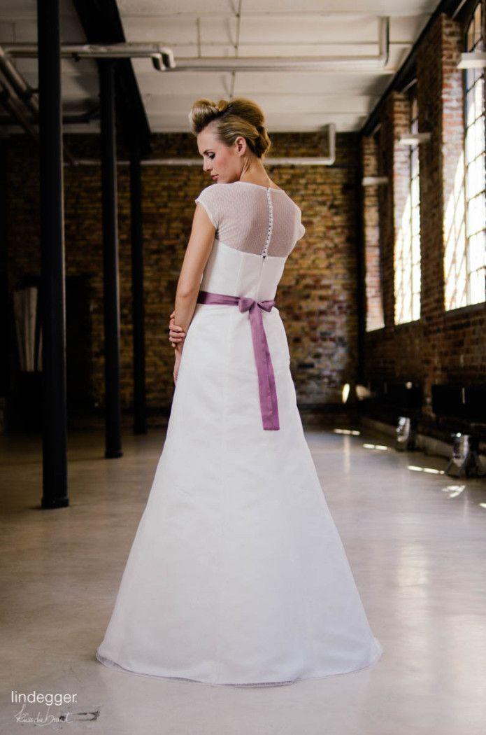 Pippa – Brautkleid in A-Form aus Tupfen-Tüll
