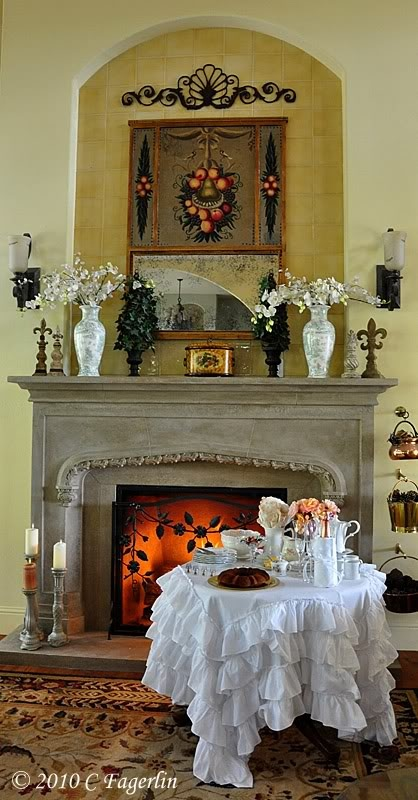 That Tabelcloth Mantel Decorating Pinterest