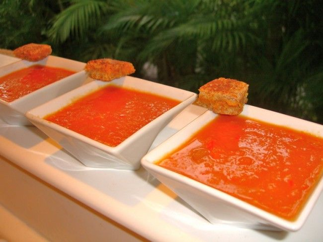 """Truly """"Clean"""" & Easy Tomato Soup. I roated my tomatoes - YUM!"""