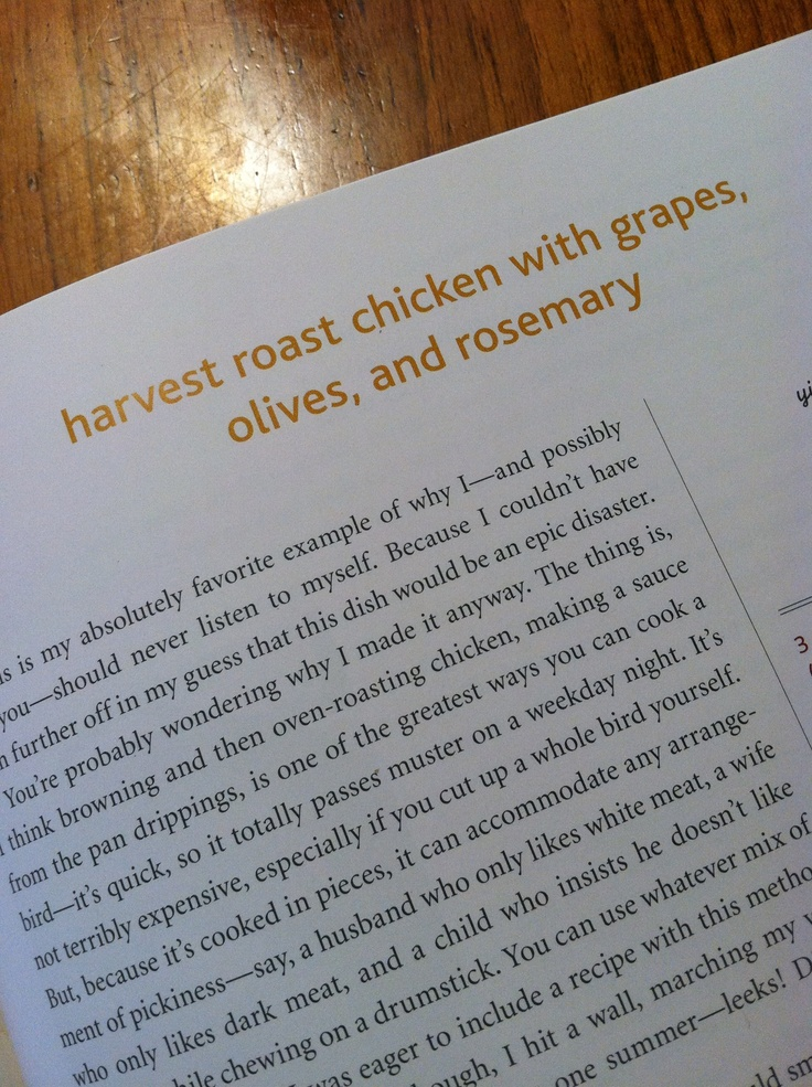 Harvest roast chicken with grapes, olives, and rosemary from The ...