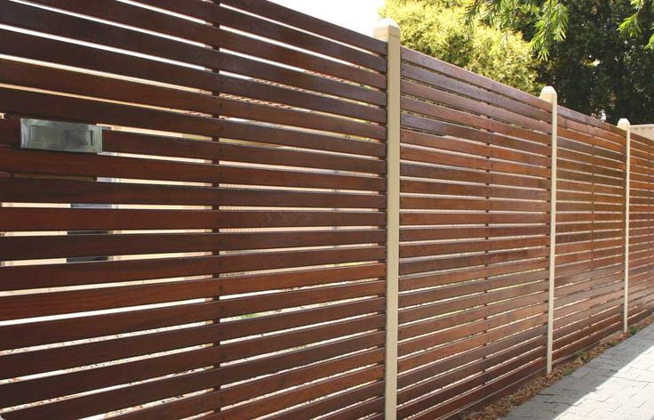 Horizontal fence stained fences pinterest for Wood screen fence