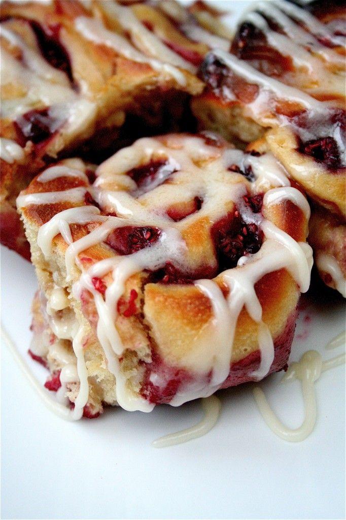 raspberry swirl sweet rolls.