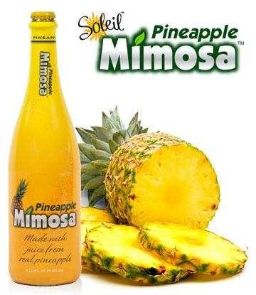 Soleil Pineapple Mimosa. Tropical goodness made with fresh pineapple ...