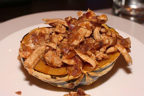 chicken stuffed carnival squash | recipes | Pinterest