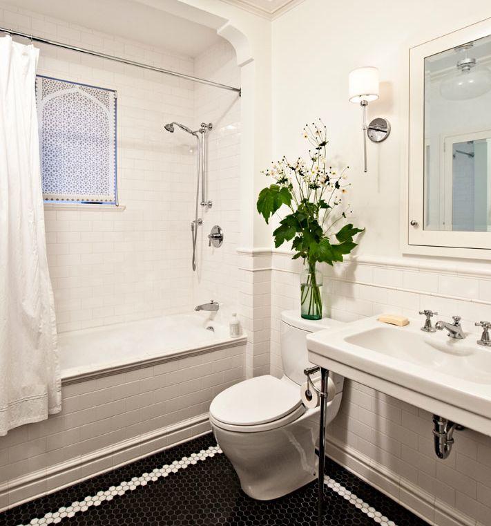 Built In Tub Subway Tile Bathroom Bungalow Bathrooms