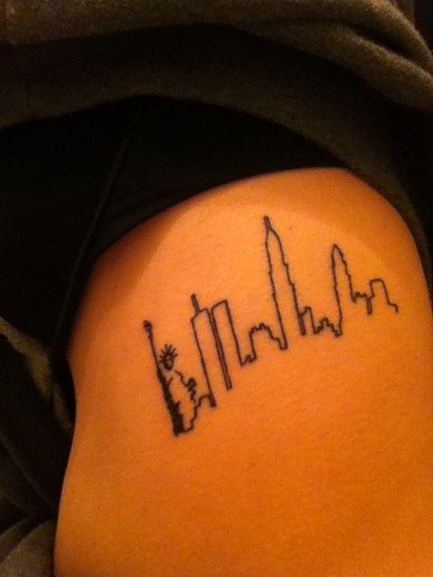 Nyc skyline tattoo cool ink pinterest for Las vegas skyline tattoo