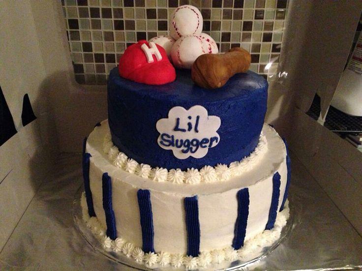 Lil Slugger Baby Shower Cake