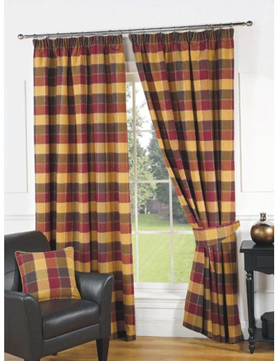 Imperial Check Ready Made Lined Curtains | New Products | Pinterest