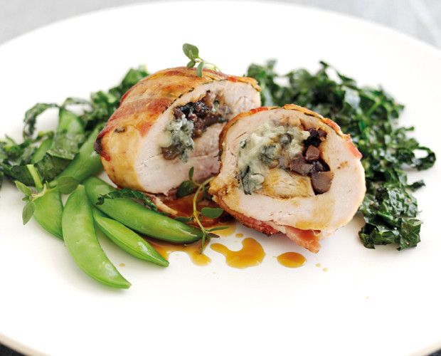 ... stuffed with Gorgonzola with chestnuts, cranberries and chopped thyme