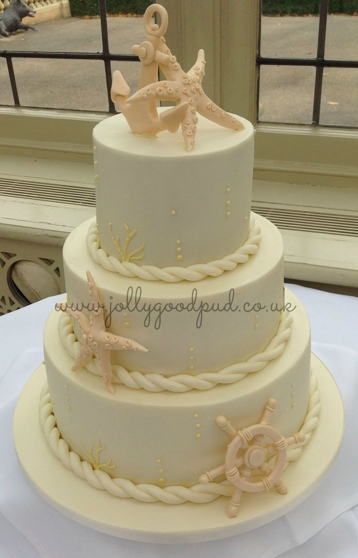 Nautical Wedding Cake From The Jolly Good Pud Company Jollygoodpud