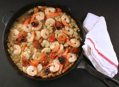 Broiled Shrimp with Tomatoes and White Beans - Martha Stewart Living ...