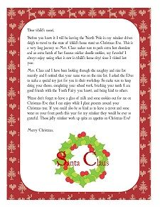 Free Personalized Printable Santa Letters