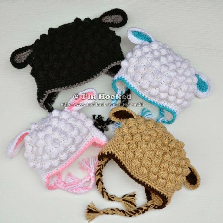 Crochet Pattern For A Lamb Hat : crochet lamb hat USD pattern Crochet Pinterest