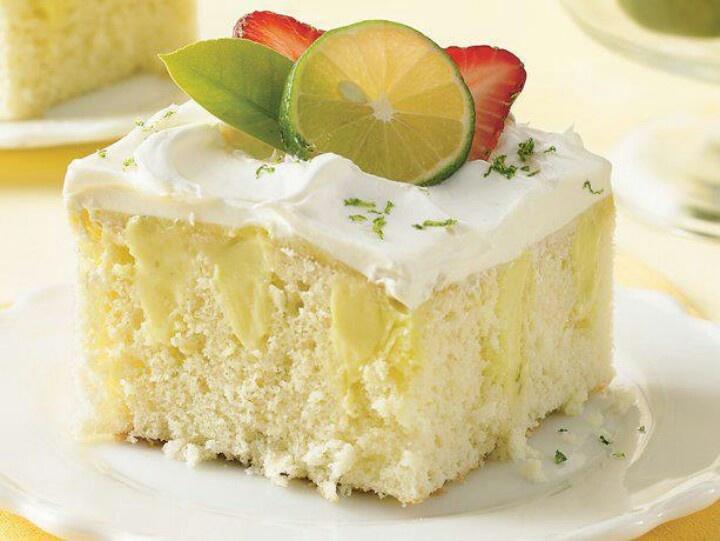 Key lime poke cake | Yummy Sweets | Pinterest
