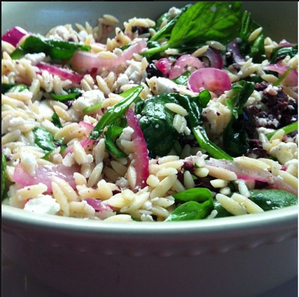 Spinach and Orzo Salad | C h o w D o w n | Pinterest