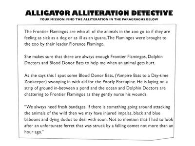 Find The Alliteration - Can your students find all the alliteration in ...