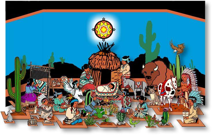 Navajo nativity for children