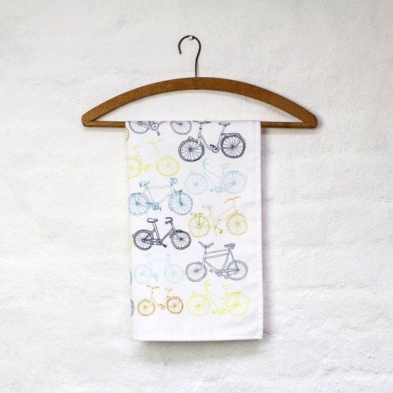 Take the Bike tea towel