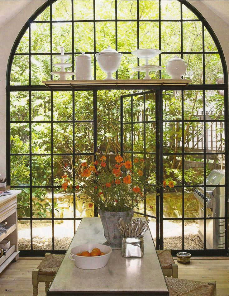 Big window kitchen elle decor lottery when i win it for Kitchen designs with big windows