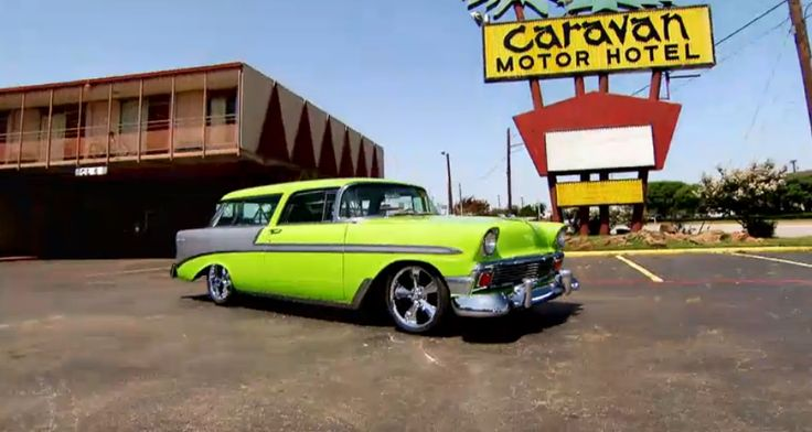 Dale Jr Fast N' Loud Green Chevy Nomad | Rides | Pinterest