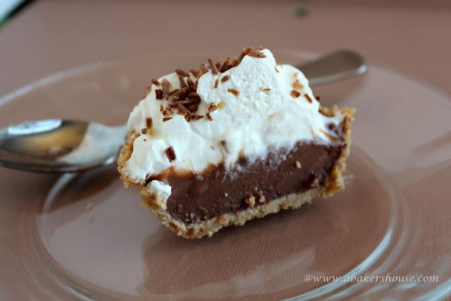 Chocolate Pudding Pie | fatso | Pinterest