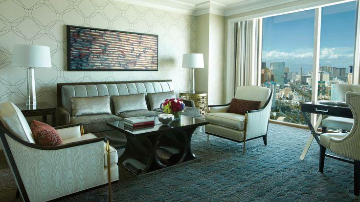 At the four seasons las vegas premier strip view suite living room