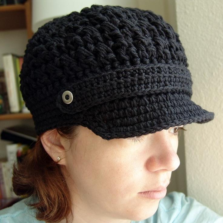 Crochet Pattern Toboggan Hat : PDF Crochet Pattern - Breezy Brimmed Beanie - hat cap ...