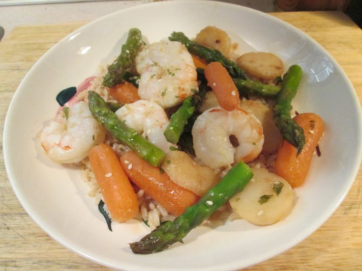 stir fried shrimp and carrots with toasted almonds recipes stir fried ...