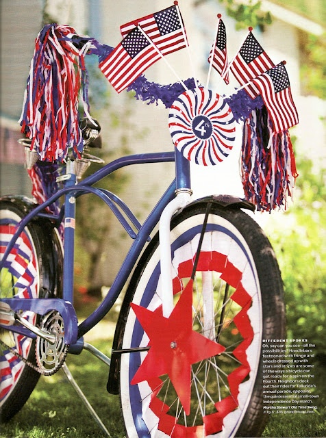 fourth of july bike decorations