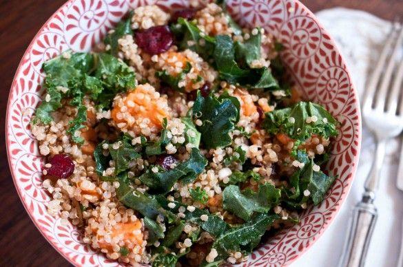 Sweet Potato Quinoa Salad--under 350 calories per entree sized portion ...