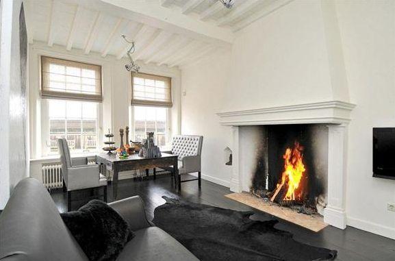 tv next to fireplace renovation fireplace