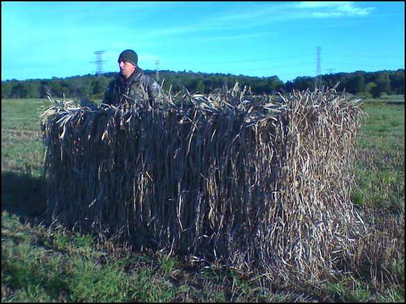 Our homemade goose blind. Got everything from Fleet Farm and built it ...
