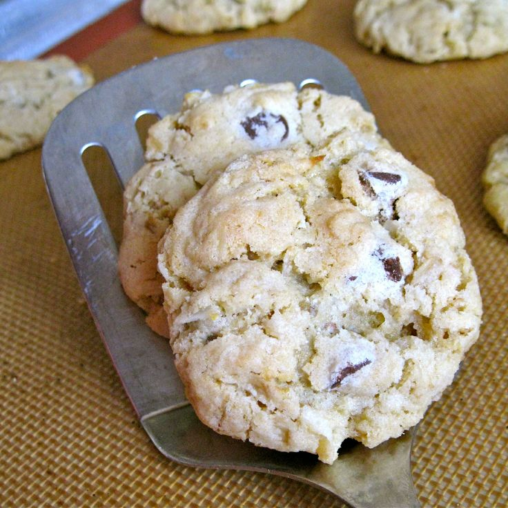 Coconut Chocolate Chip Oatmeal Cookies | A moment on the lips ...