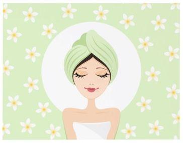 Spa wedding bridal shower invitation with plumeria (frangipani)