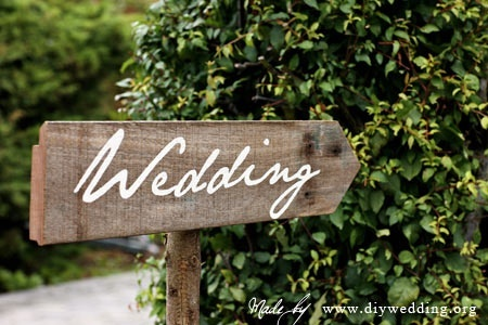 DIY Wedding Signs Country Style Chic