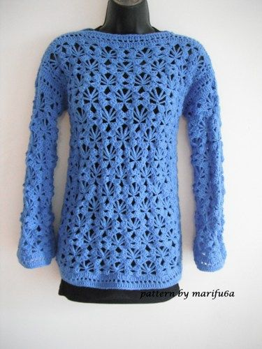 crochet pullover, sweater pattern for beginners Nr 24