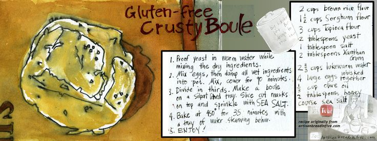 Gluten-Free Crusty Boule (my artwork on They Draw and Cook)