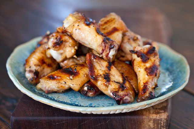 Grilled Honey Miso Chicken Wings by Steamy Kitchen