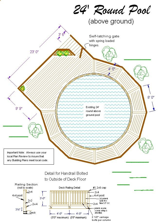 Above ground pool deck plans 2012 diy crafts pinterest for Pool plans free