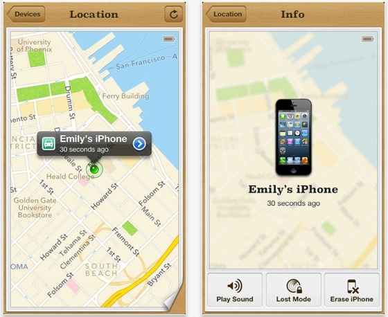 enable locate my iphone