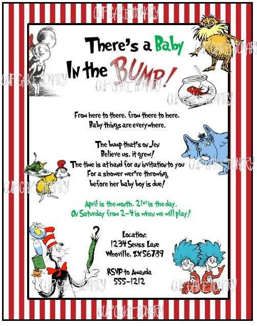 Dr Seuss Baby Shower Invitations I PRINT AND by cupcaketionary, via ...