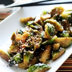 Asian-style sesame brussels sprouts | Thai Food.. | Pinterest