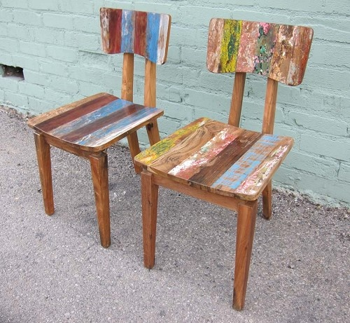 Reclaimed Wood Dining Chair Recycled Upcycled Repurposed Pintere