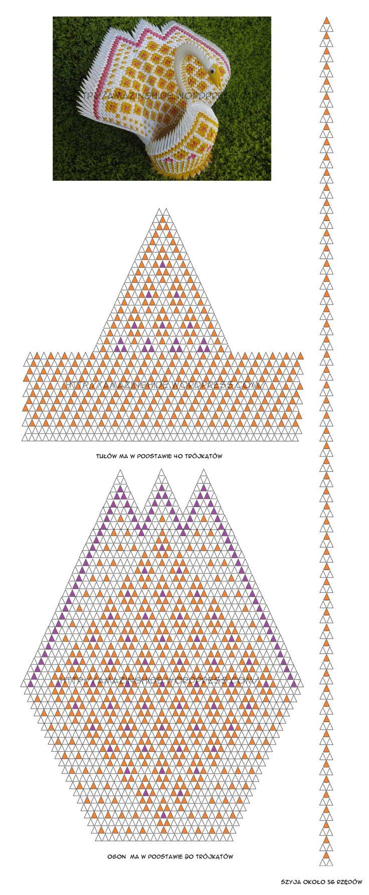 Схема лебедя из модулей для начинающих схемы
